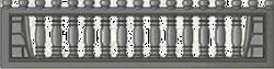 Кирпич арка еврозабора 2000x500