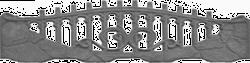 Пазловый бут ажур 2000x500 мм