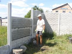 Установка еврозабора Харьков Бета-Строй Фото 2