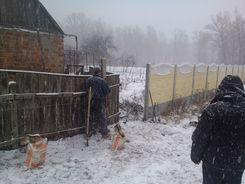 Установка еврозабора Харьков Бета-Строй Фото 8
